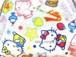 Hello Kitty & Hamburger Coin Bag Wallet Purse Clutch