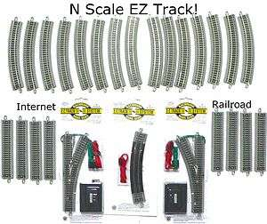 SCALE MODEL RAILROAD TRAINS LAYOUT BACHMANN SILVER EZ TRACK SUPER