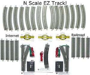 SCALE MODEL RAILROAD TRAINS LAYOUT BACHMANN SILVER EZ TRACK SUPER