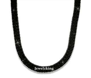 ROW ICED OUT HEMATITE BLACK HIP HOP CHAIN NECKLACE