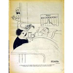 LE RIRE (THE LAUGH) FRENCH HUMOR MAGAZINE HOSPITAL BED