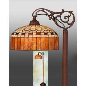 Tiffany Style Stained Glass Bridge Floor Lamp FB1225