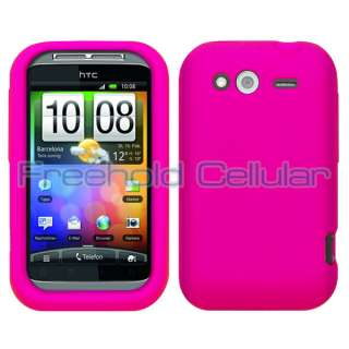 Hot Pink Soft Silicone Skin Cover Case for T Mobile HTC Wildfire S