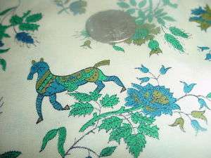 VINTAGE 60S 70S DRESS SHIRT COOL RETRO HORSE FABRIC 4Y