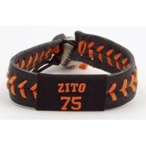 Gamewear MLB Leather Wrist Bands   Zito Team Colors   San