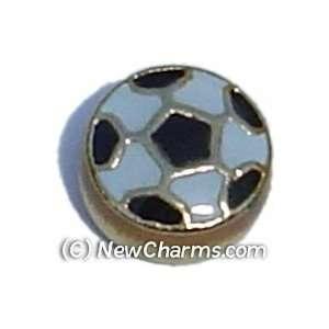 Soccer Ball Floating Locket Charm