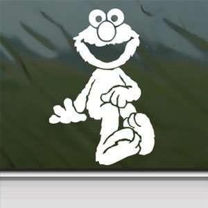 Sesame Street White Sticker Elmo Car Vinyl Window Laptop White Decal
