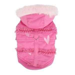 New York Innocence Winter Coat for Dogs, Large, Pink
