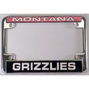 Grizzlies Chrome Motorcycle License Plate Frame