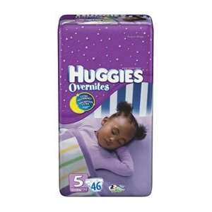 Huggies Overnites Diapers 46 pk.   5: Baby