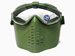 Marui Goggle Military Face Mask w/ Fan Ranger Green OD