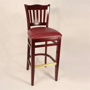 Factory Direct 7251H MABU School House Four Bar Stool