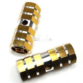Gold Kid 3/8 Axle Foot Pegs for BMX Bike Bicycle USA