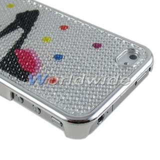 Bling Shining Soft Rubber Chrome Hard Case Cover For iPhone 4 4G 4S