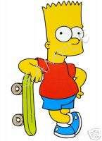 BART Simpson SkateBoard T Shirt Iron On Decal Transfer