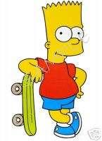BART Simpson SkateBoard T Shirt Iron On Decal Transfer |
