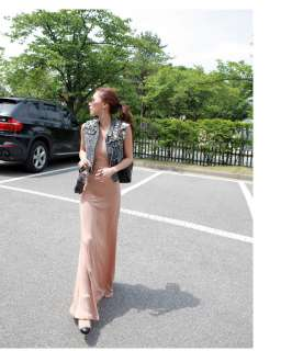 2012 New Summer Thin Plain Dress Full Long Maxi Dress AS54