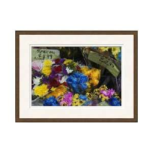 Flowers At Outdoor Market Stand New York Framed Giclee