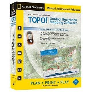 Geographic USGS Topographic Maps (Missouri, Oklahoma,and Arkansas