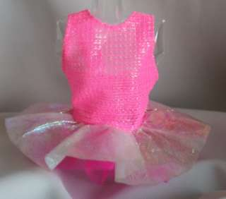 Barbie doll hot pink iridescent leotard dress layers dancer ballet