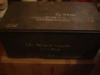 WWII U.S. ARMY AIR CORPS PAINTED TRUNK LIEUTENANT GERALD HELLER