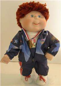 1996 Cabbage Patch Kids Boy USA Olympic GOLD Atlanta