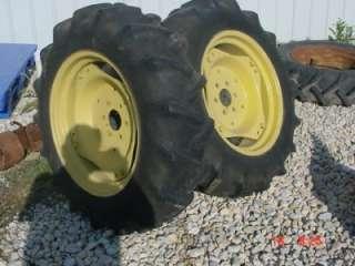 850 950 JOHN DEERE TRACTOR 11.2 X 24 TIRES & RIMS JD 850 950