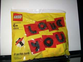 LEGO BULIDING BLOCK I LOVE YOU VALENTINE SET 41 PCS NEW