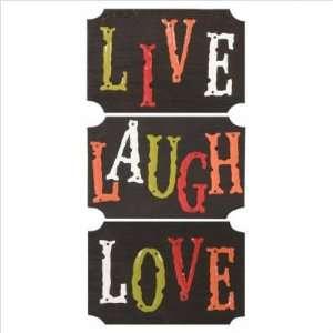 Live Laugh Love Wall Plaque