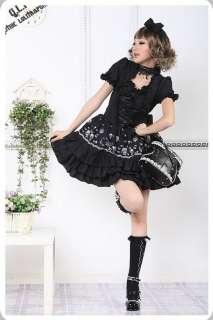 PUNK NANA GOTHIC LOLITA ALICE FLORAL DRESS 81078Blk S~L