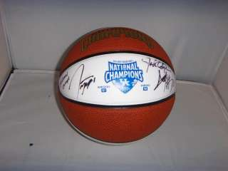 KENTUCKY WILDCATS SIGNED TEAM CHAMPIONSHIP FULL SIZE LOGO BASKETBALL