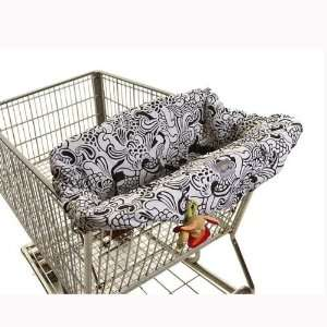 Licorice Swirl Grocery Cart/high Chair Cover Baby
