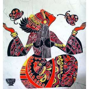 High Quality Chinese Batik Tapestry Butterfly Girl Art
