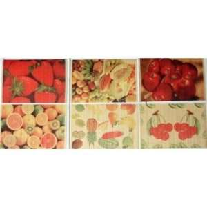 Printed Bamboo Placemats Fruit Designs Case Pack 72