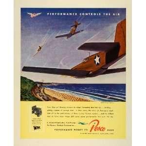 1943 Ad Borg Warner Pesco North American Mustang Military