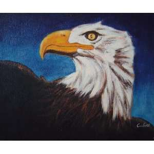 American Bald Eagle Head Oil Painting 20 x 24 inches