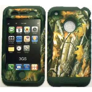 Camo 2 Oak Tree on Sage Silicone for Apple iPhone 3G 3GS Hybrid 2 in 1