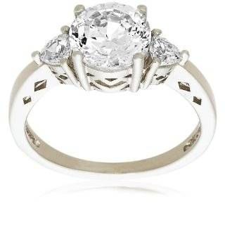Sterling Silver Cubic Zirconia Eternity Ring, Size 5 Jewelry