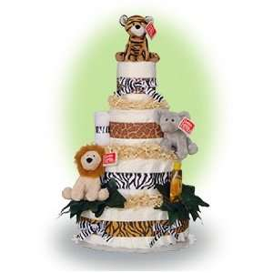Welcome to the Jungle 4 Tier Diaper Cake Baby