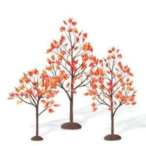 Dept. 56 Accessory Autumn Maple Trees Set/3