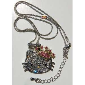 Lovely Rhinestone Crown Hello Kitty HK pendant crystal