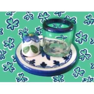 Tequila Ceramic Shot Glass and Salt Shaker  Kitchen