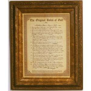 he Original Rules Of Golf Old World Classic Nugge Frame