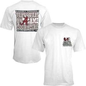 Alabama Crimson Tide A Game Score over Tennessee White T shirt