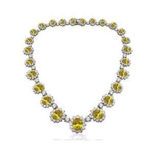On Pretty Woman Necklace & Earrings SET   Citrine Yellow: Jewelry