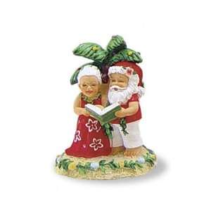 Christmas Ornament with Singing Santa & Mrs. Claus