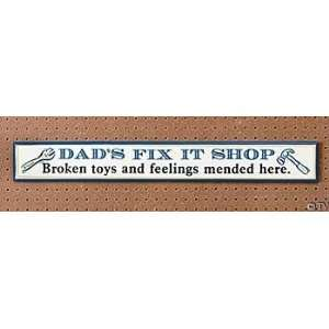 Fathers Day Gifts Wood Dads FIX It Shop Sign Everything