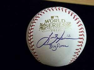 Lance Berkman Signed 2011 World Series Baseball St. Louis Cardinals W