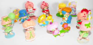 Lot of 14 different Strawberry Shortcake Vintage Miniatures Figures