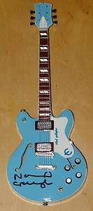 NOEL GALLAGHER ~ VERY RARE HAND SIGNED MAN CITY BLUE OASIS EPIPHONE